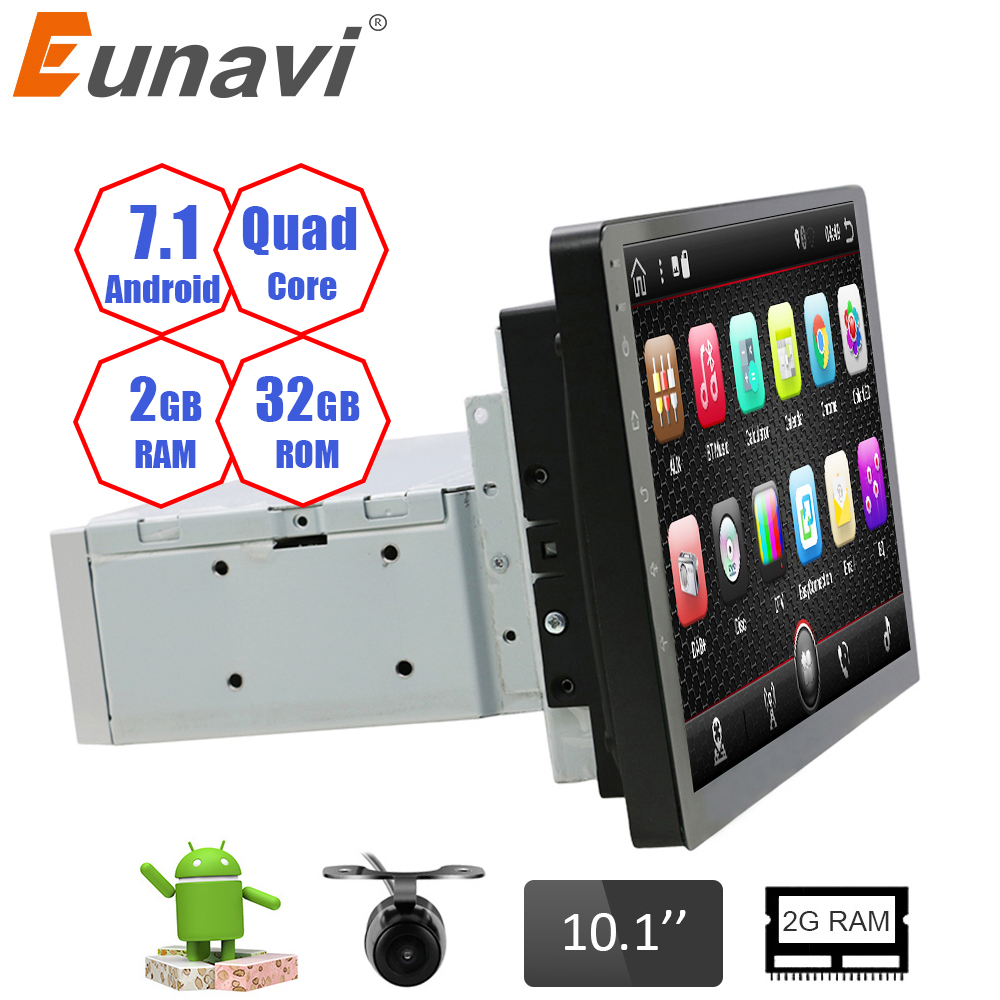 eunavi universal 10 1 1 din android 7 1 car radio stereo. Black Bedroom Furniture Sets. Home Design Ideas