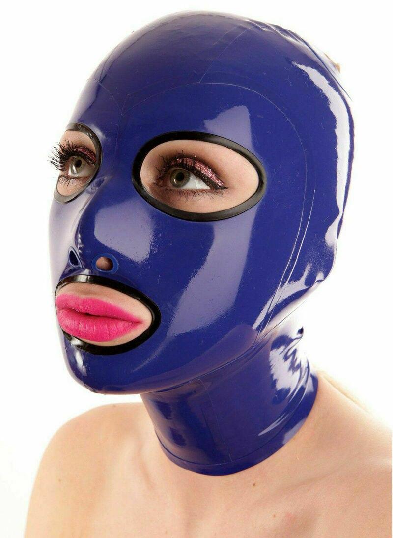 Latex Rubber Unisex Mask Hood Gummi for Party sex toys for couples estim bdsm bondage sex