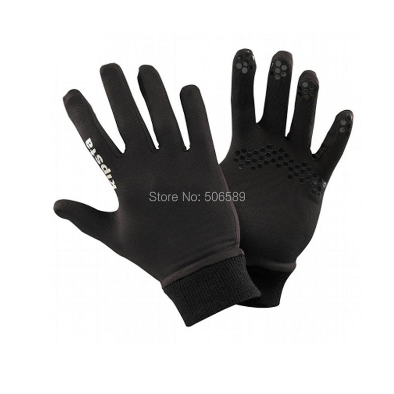 outdoor font b gloves b font adults for running warm keeping material polyester black