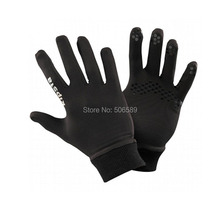 outdoor gloves adults for running warm keeping material polyester black XXL