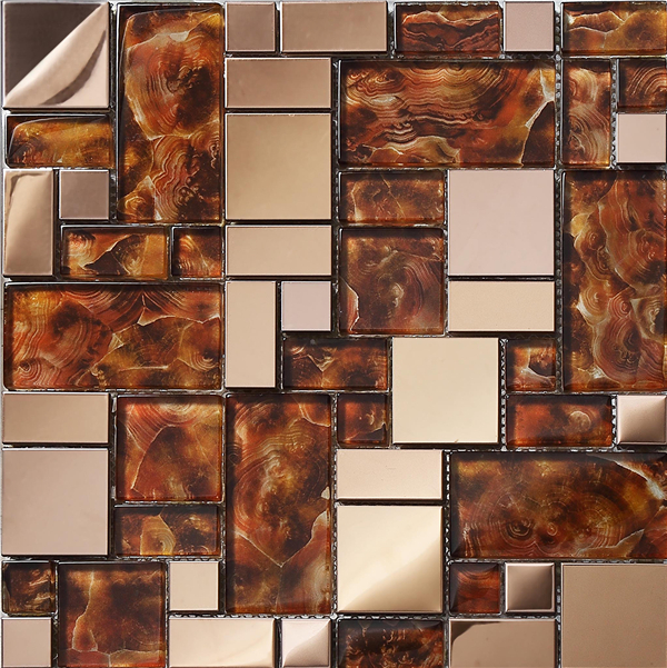 crystal metal glass mosaic tiles mirror building materials kitchen bathroom shower design wall tile deco on meshsa15111