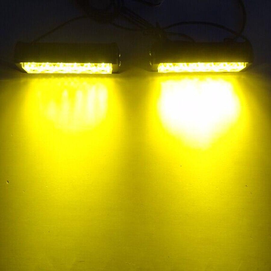 12LED 12W 12V Strobe Warning Light Bar Trailer Marker Daytime Running Lights Amber Red Blue Led Police Emergency Roof Light