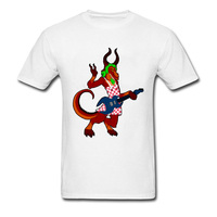 Heavy Metal Rock Geek T Shirts Men Summer Cool T Shirt Unique Design Demon Monster Print