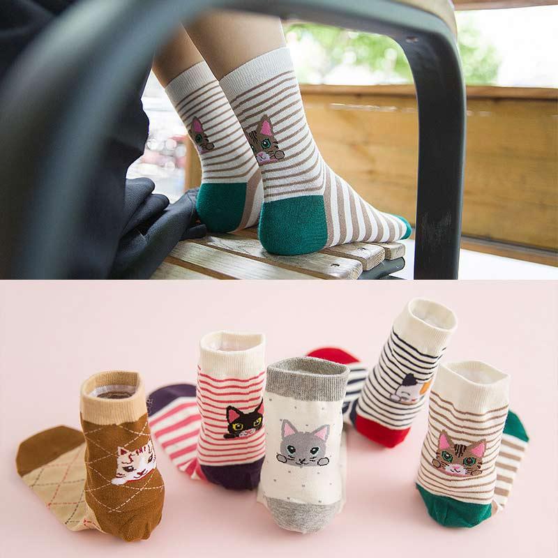 Socks Ladies Spring Summer Simple 5 Pairs lot Of Tube Women Sock Solid Color Cotton Short Tube Leisure 5 Styles in Socks from Underwear Sleepwears