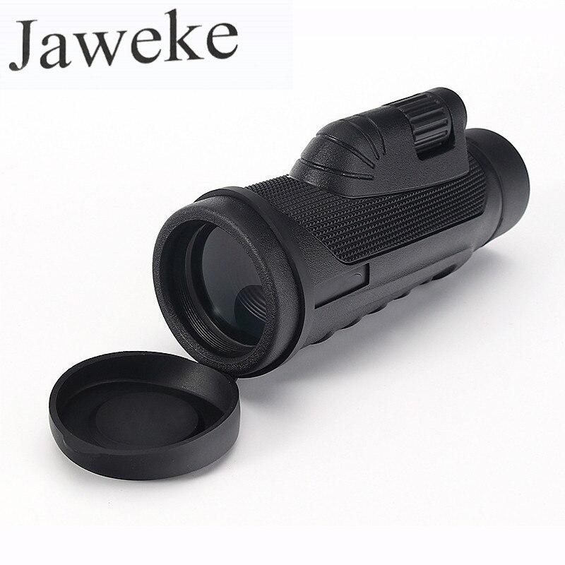 JAWEKE HD monoculaire 10X42 puissant télescope à foyer unique oculaire HD haute puissance monoculaire extérieur Sport livraison directe