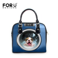FORUDESIGNS New Arrival Women S Handbag Portable Popular Shop Online Handbags Cat Pugs Dogs Printing Tote