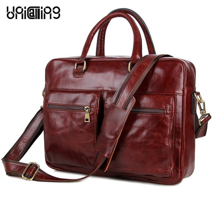 Laptop bag 15.6 inch leather handbag luxury oil wax genuine leather men business bag fashion men leather laptop messenger bag messenger bag men leather unicalling fashion quality cowhide genuine leather men bag casual men leather bag laptop bag 14 inch