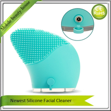 10Pcs/Lot Free Shipping Electric Sonic Facial Pores Silicone Vibration Face Pores Cleaner Cleansing Brush Massager Machine