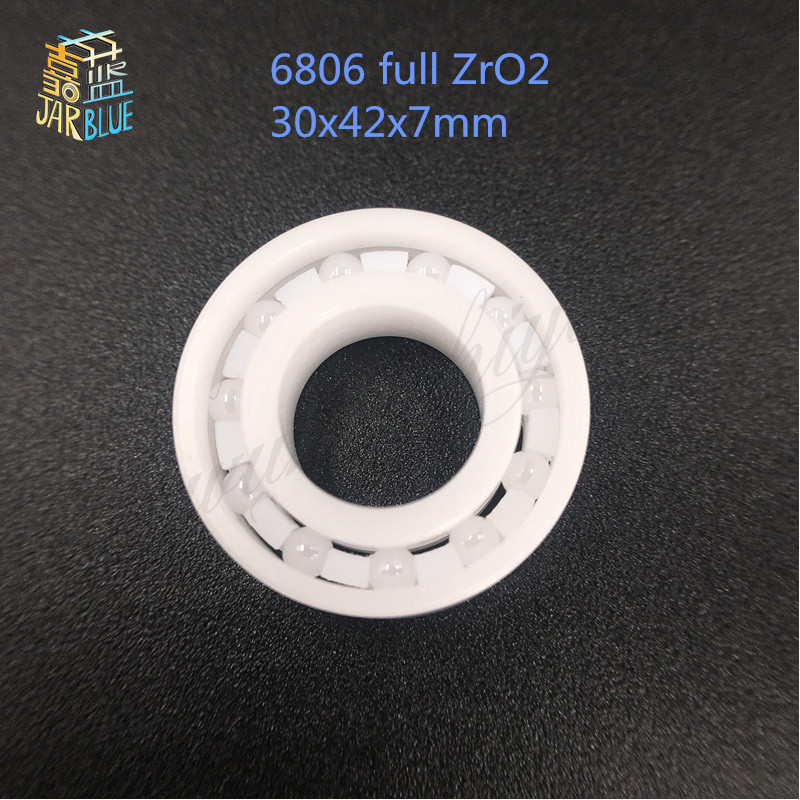 Free shipping 6806 full ZrO2 ceramic deep groove ball bearing 30x42x7mm 61806 full complement free shipping 697 619 7 7x17x5 mm full zro2 ceramic ball bearing