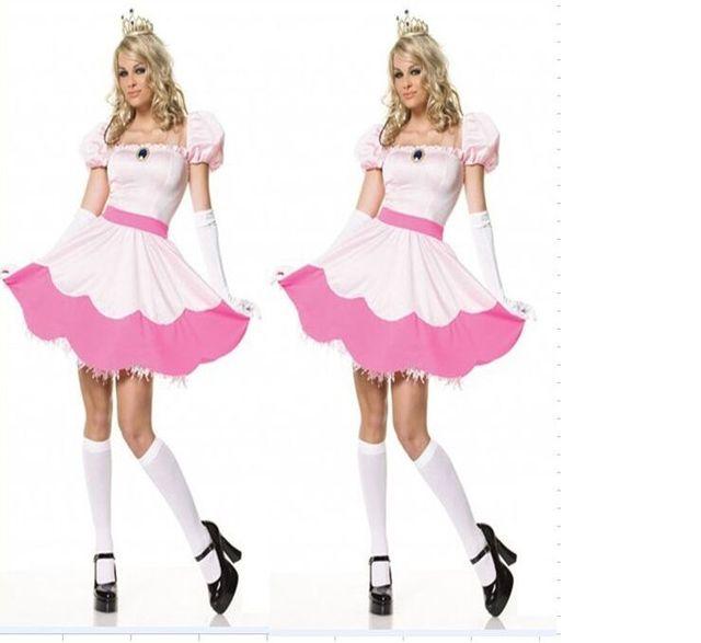 Belleza durmiente vestido de Halloween traje de melocotón mujeres ...