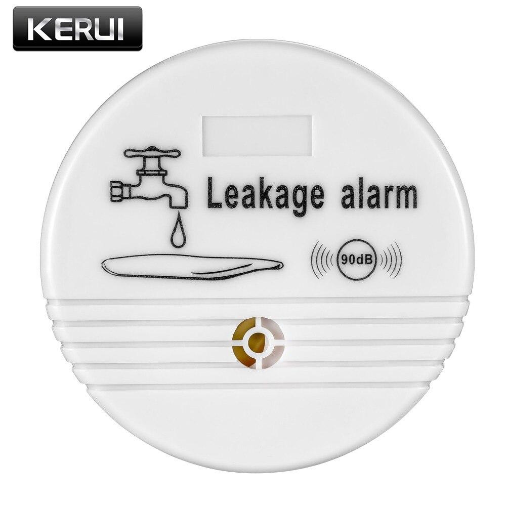 Kostenloser versand Unabhängige Drahtlose Wasser Leck Detektor Sensor 90 dB Volumen Wasser Leckage Alarm für Home Küche Wc Boden
