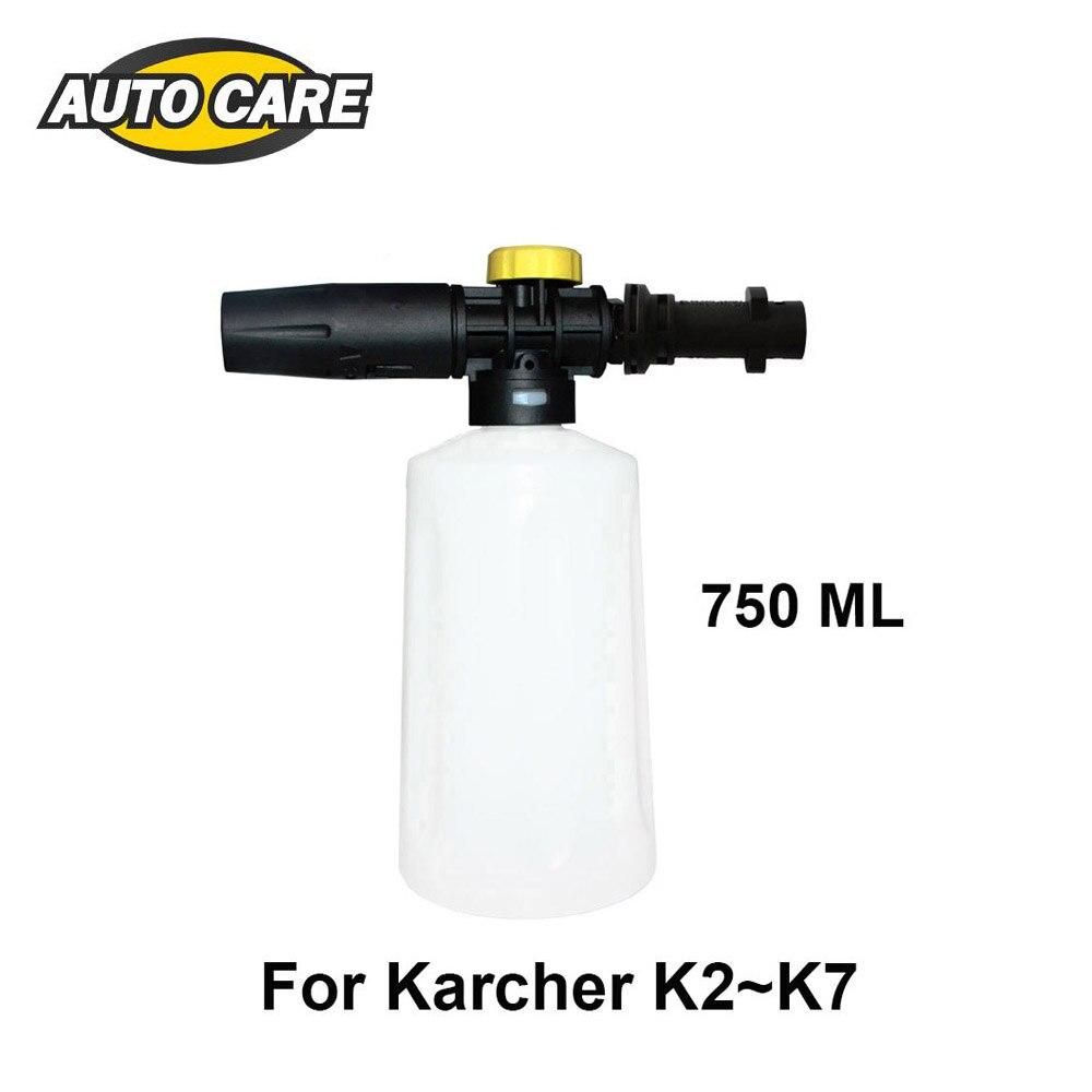 750 ml Schiuma Neve Lancia Per Karcher K2-K7 Schiuma Ad Alta Pressione Pistola Cannone Portatile di Plastica Foamer Ugello Auto rondella Sapone Spruzzatore