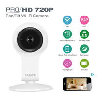SANNCE 720P HD Wifi IP Camera 1MP Wireless Home Security Smart P2P Baby Monitor Network Mobile Remote IR Night Vision CCTV Cam