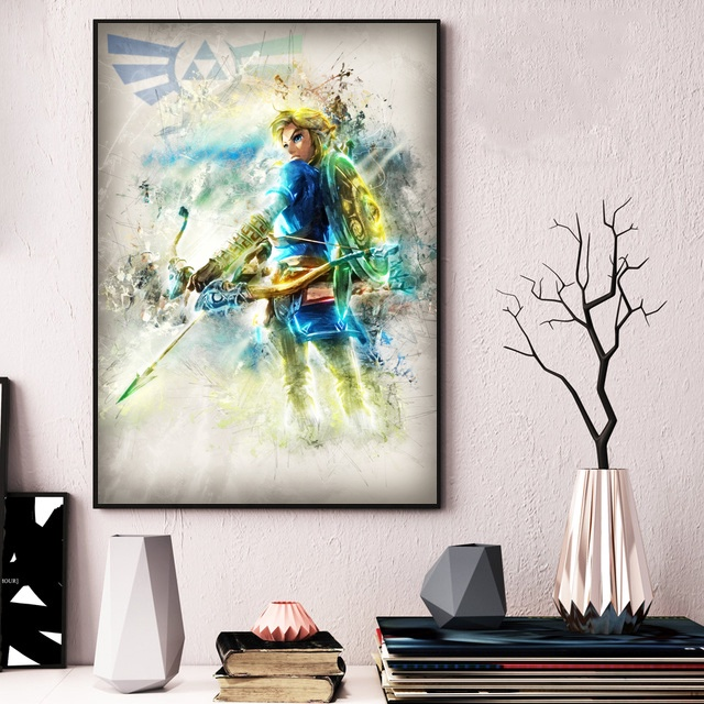 Zelda Watercolor Art Canvas Poster  1