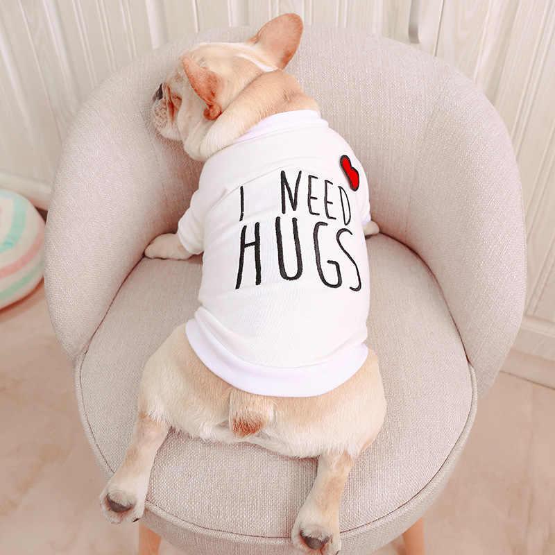 Симпатичное летнее пальто для собак Французский бульдог рубашка с толстыми