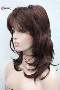 Image 3 - Peruca longa de camadas com ombro escuro, peruca clássica sintética completa escolhas coloridas