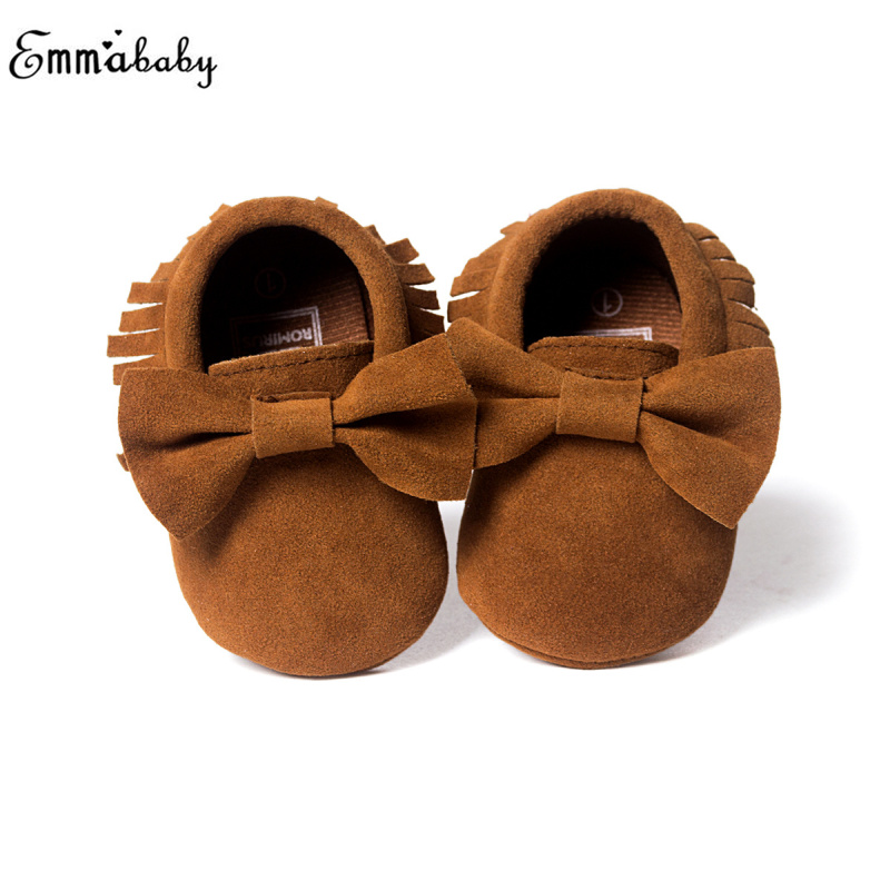 Baby Shoes New Spring Newborn Boys Girls Toddler Shoes Suede Leather Shoes Tassels Baby Moccasins Casual Leather Shoes