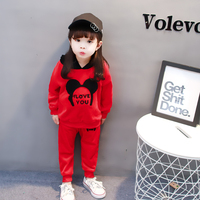 Baby Girl Clothes Bear Leader Spring Baby Clothing Sets Letter Cartoon Printing Hoodies Sweatshirts Pants 2Pcs