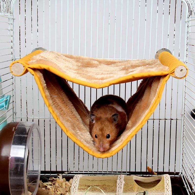 font b Pet b font Hamster Hanging Beds kitten Hamster Warm Solid Wood Multi layer