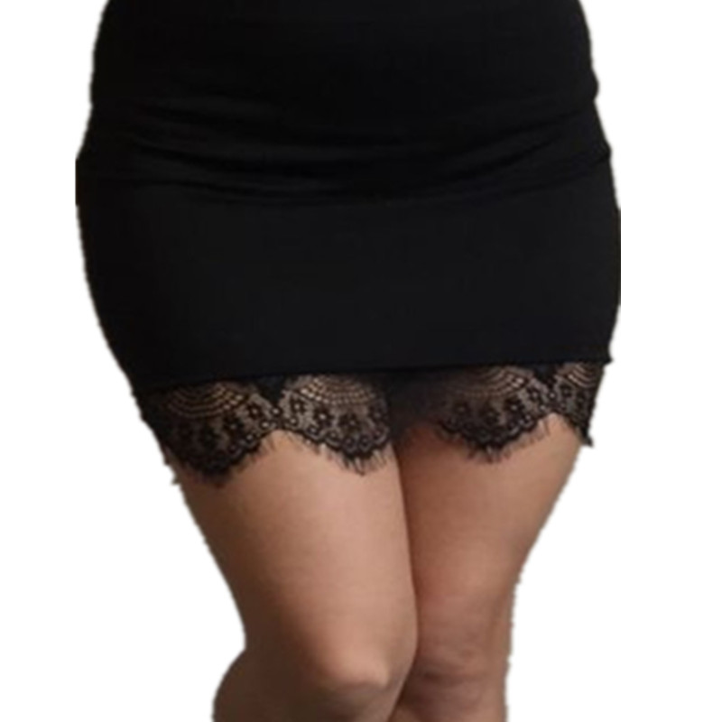 Sexy Women Black Lace Stretch Solid Color High Waist Short Bodycon Mini Skirt Pencil Party Club Slim S-XXL Skirts