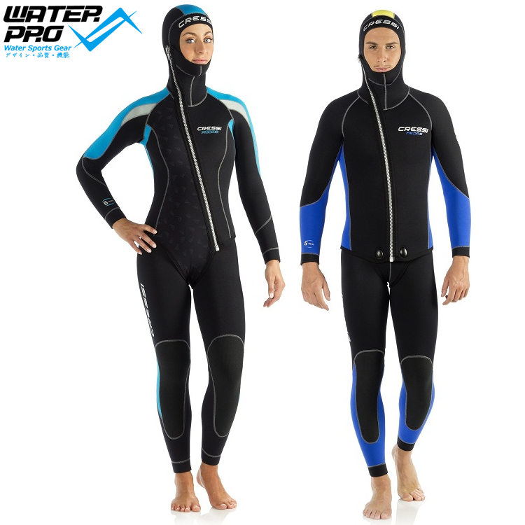 купить  Cressi MEDAS 5MM TWO PIECES WETSUIT MAN LADY Scuba Diving Snorkeling Water Sports  недорого