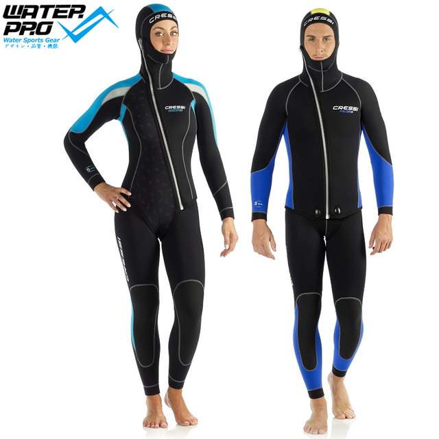 d099c1a3e1 Cressi MEDAS 5MM TWO PIECES WETSUIT MAN LADY Scuba Diving Snorkeling Water  Sports