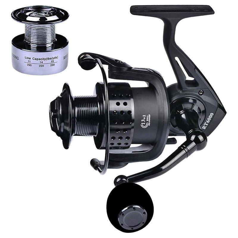 YUYU metal Fishing Reel spinning with spare spool 2000 3000 4000 5000 6000 7000 5.2:1 13+1BB spinning reel for carp fishing
