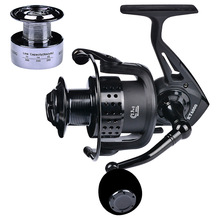 YUYU metal Fishing Reel spinning with spare spool 2000 3000 4000 5000 6000 7000 5.2:1 13+1BB spinning reel for carp fishing цена 2017