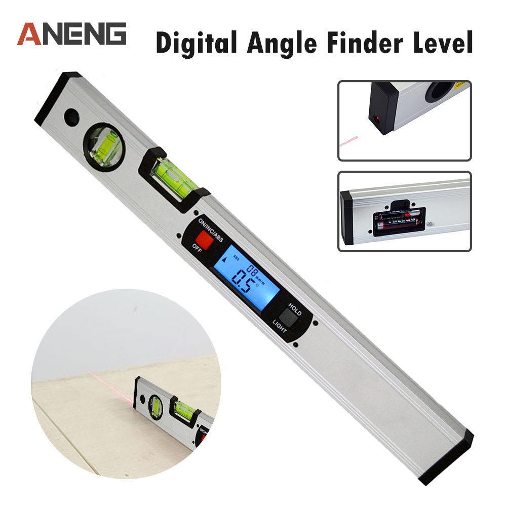 400mm High Precision Digital Angle Finder Level 360 Degree Range Spirit Level Upright Inclinometer with Magnets Protractor Ruler цены