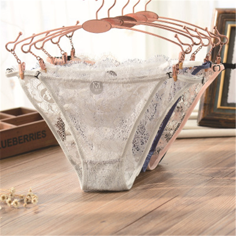 Girls' Clothing New Hot 3pcs/lot Lace Transparent Child Thong Panties Young Girls Underwear Panties Teenage Kids Panties Child G String