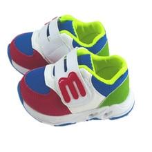 Для девочек обувь из сетчатого материала дышащие детская обувь Весна и осень для малышей обувь на плоской подошве мягкая детская обувь Y5
