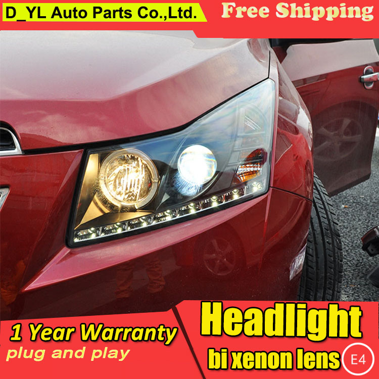 D YL Car Styling for Chevrolet Cruze Headlights 2009 2014 Cruze LED Headlight DRL Lens Double