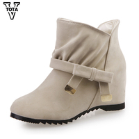 Autumn Winter Women Boots Martin Shoes Woman Casual Platform Shoes Ankle Boots For Women High Heel