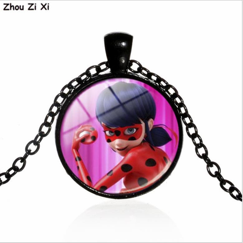 Ladybug Girl Glass Time Gem Necklace Toys