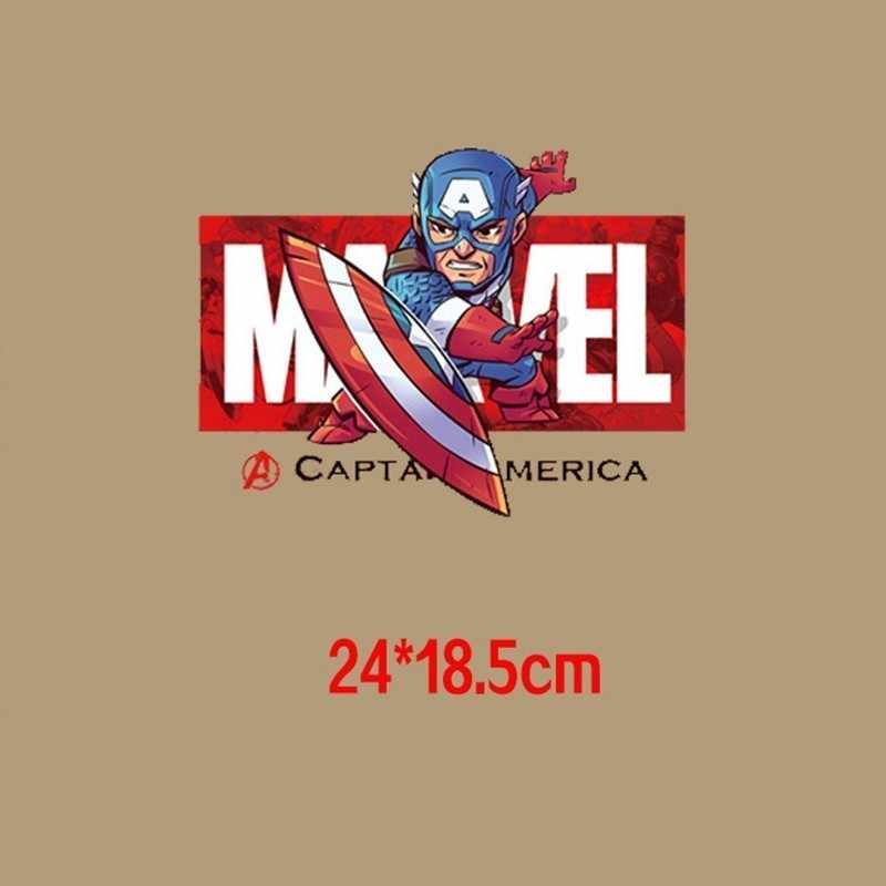 Fashion Cartoon Superman Patches Iron on Transfer for Clothing Marvel  Thermal Stickers Heat Transfer Patches Stickers