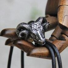 Oryginalny projektant ze stali nierdzewnej owiec bolo krawat dla mężczyzn osobowość krawat moda akcesoria