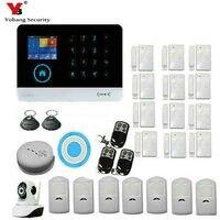 YobangSecurity Wifi 3G WCDMA CDMA Home Alarm Security System With Wireless Flash Siren WIFI IP Camera