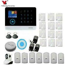YobangSecurity Wifi 3G WCDMA/CDMA Home Alarm Security System With Wireless Flash Siren WIFI IP Camera IOS Android APP Control