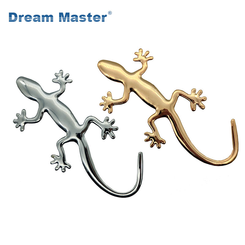 1PCS 3D Metal Gecko Lizard Quattero Car Motorcycle Sticker Applique Truck Label Emblem Badge Car Styling Decoration Accessories