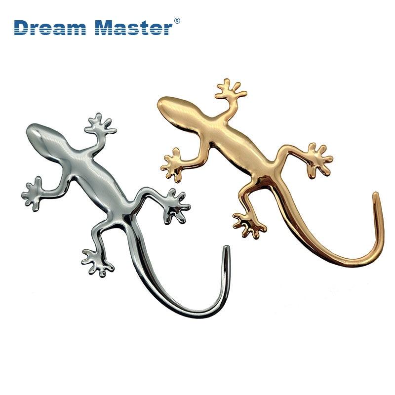 1PCS 3D Metal Gecko Lizard Quattero Car Motorcycle Sticker Applique Truck Label Emblem Badge Car Styling Decoration Accessories
