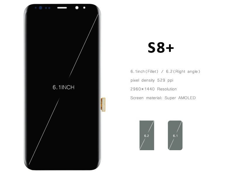 Nuevo 5 unids oem teléfono móvil lcd para samsung s8 plus pantalla táctil con di