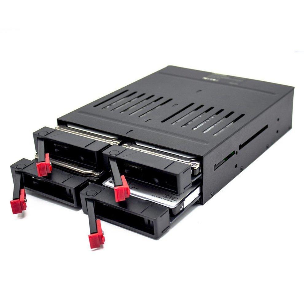 OImaster 2.5 Inch 4 Slots SATA Internal Rack Hard Drive Case Internal Mobile Rack With LED Indicator Capacity Expansion