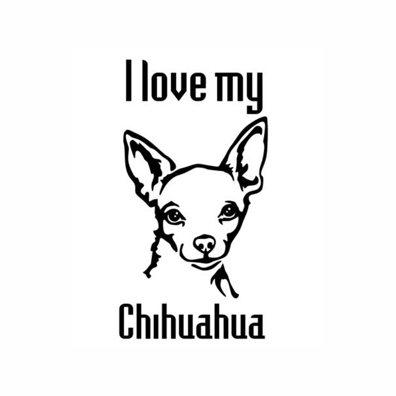 Download 6.5cm*12.7cm Car Styling Animal I Love My Chihuahua Cute ...