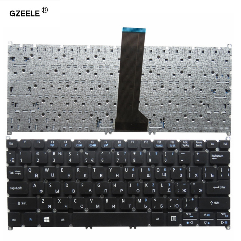 GZEELE NEW Russian Laptop Keyboard For ACER Aspire V5-122 V5-122P V5-132 V3-371 V3-111P V3-112P V3-331 V3-372 V3-372T Black RU