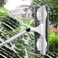 Инструмент для очистки стекла двухсторонний телескопический стержень окно Очиститель скребок c резиновой пластинкой длинная ручка Вращаю...