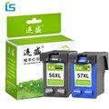 2 шт. 56XL 57XL заправленная Замена чернильных картриджей для HP 56 57 XL для HP Deskjet 5150 450CI 5550 5650 7760 9650 PSC 1315 1350