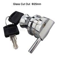 8PCS Single Glass Showcase Door Lock Chrome Plated Cabinet Showcase Door Lock Display Cupboard Lock JF1388