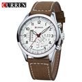 Brand Black Men's Military Casual Dashboard Quartz Watches Leather strap Wristwatch Relogio Masculino Dress Curren
