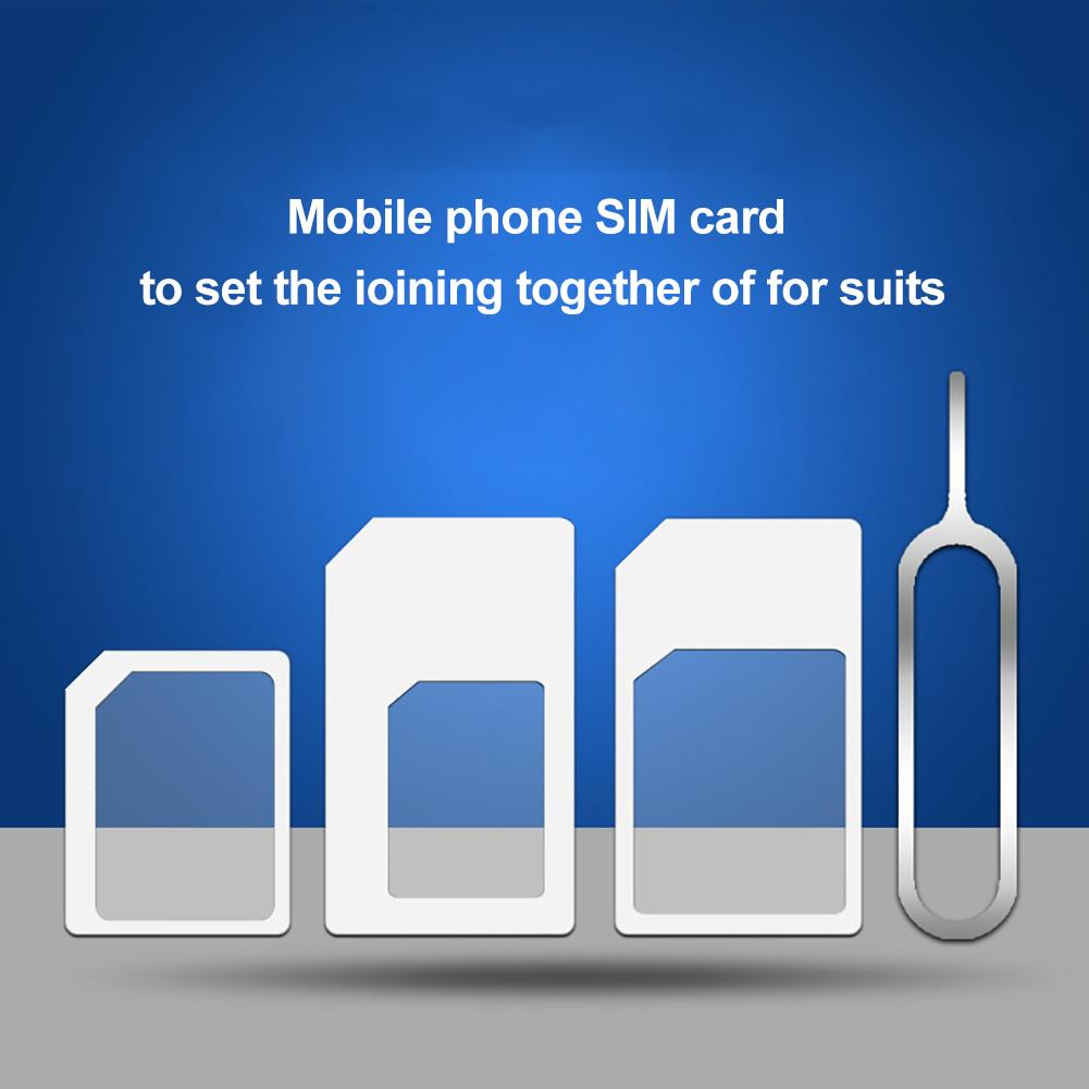 New Arrival 4Pcs Universal Mobile Phone Nano SIM To Micro/Standard Card Adapter Converter