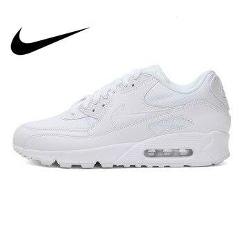 brand new 09af0 b89a2 Original 2018 auténtico NIKE AIR MAX 90 hombres zapatos para correr  zapatillas de deporte al aire libre zapatos de diseñador de marca ligero  537384